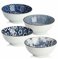 Ceramic Cereal Soup Salad Bowls 16 Ounces Japanese bowls Set of 4