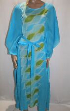 COAST Brand HANDMADE Blue Sheer Cotton Kaftan Maxi Dress Size BNWT #TQ30