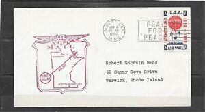 1960 AM-107 First Flight Air Mail Cover, Albert Lea, MN - Minneapolis, MN