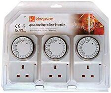 24 Hour Plug-in Timer Socket Set