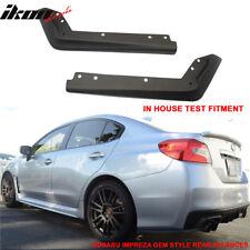 For 15-18 Subaru WRX OE STI Style Rear Spat Valance Lip ABS