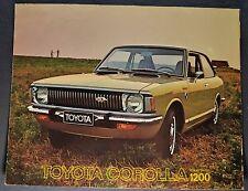 1973 Toyota Corolla 1200 Sales Brochure Folder Excellent Original 73