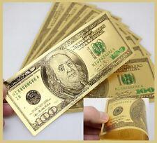BILLETE 100 DOLLAR PURE GOLD 999,9 % 24K - BILLETE 100 DOLLAR ACABADO EN ORO