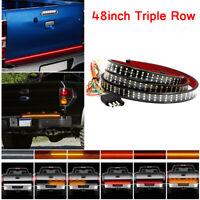 LED 3-Row Truck SUV Turn Signal 48inch Tailgate Light Strip Bar Brake Tail Light