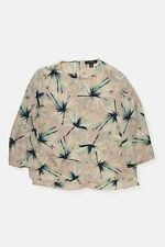 Atmosphere Nude Tropical Pattern Semi Sheer Blouse Top Size 12 Womens