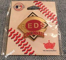 Cincinnati Reds Lapel Pin~MLB~Logo~Baseball~by Aminco~New on Card~Diamond