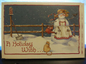 "Leanin Tree Snowlady ""A Holiday  Wish"" Christmas Cards Box of 10  5 x 7"