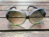 Vintage Oversize grüne graue Sonnenbrille alter Lagerbestand Optikers ungetragen
