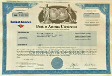 Bank of America collectible stock certificate