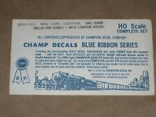 Champ Decal HO #BRH-110, NYC, Small Hood Diesels