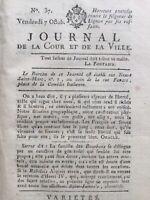 Journal Royaliste 1791 Seigneur de Lignon Valenciennes Cérutti Duc d'Orléans