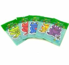 5 X FROG HANGING CAR VALET AIR FRESHENER SCENTED ASSORTED LIME SPICE VANILLA