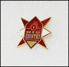 Big Country Vintage 80's Enamel Metal Concert Tour Pin Badge