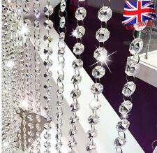 33FT Wedding Acrylic Garland Diamond Crystal Bead Chandelier Hanging Decoration