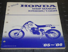 NOS OEM Honda Service Shop Manual NEW 85-86 XR80R / 100R XR 80 R 100 R