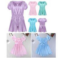 Men's Sissy Shiny Satin Frilly Crossdressing Dress Lingerie Nightwear Underwear