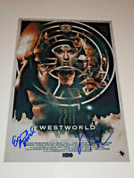 WESTWORLD CAST SIGNED AUTOGRAPHED 12X18 PHOTO POSTER EVAN RACHEL WOOD WRIGHT HBO