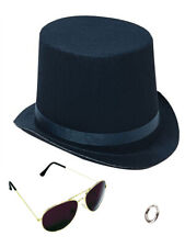 Lip Ring Top Hat And Aviator Sunglasses The Slash Bundle Costume Accessories