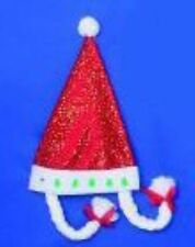 SANTA HAT con cavetti di raccordo XMAS NATALE FANCY DRESS ACCESSORIO PARTY CAPPELLO p2120