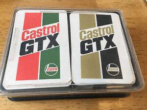 2 x PACKS OF CASTROL GTX VINTAGE PLAYING CARDS (Complete Sets)