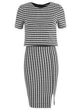 Miss Selfridge Mono Jaquard Double Layer Pencil Dress UK Size 8
