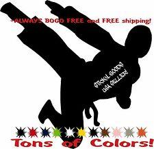 Karate Martial Arts Flying Jump Kick MMA Vinyl Decal Sticker for Car Window USA!