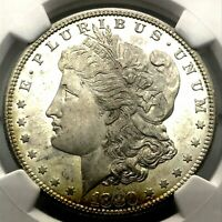 1880-S MORGAN SILVER DOLLAR, MS 64+Plus NGC GRADED COIN. LOOKS PL. UNDER-GRADE.