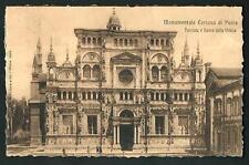 Certosa di Pavia - cartolina viaggiata nel 1906 per la Francia