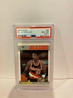 1987 Fleer Clyde Drexler Portland Trailblazers Basketball Card PSA NM-MT 8 #30