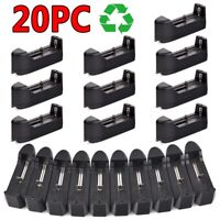 20PACK Smart Battery Charger For 18650 16340 14500 Rechargeable Li-ion Batteries