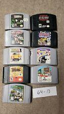 Lot Of 9 N64 Games Nintendo 64 South Park, Turok, Tom Clancy's, wrestling #13