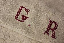 Grainsack hemp feed Gr monogram homespun linen hemp bag feed flour bag