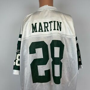 Reebok Curtis Martin New York Jets Game Jersey Vtg NFL On Field Football Road XL