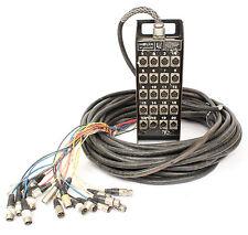 Vintage Pro Co Helix Standard 16 x 4 Microphone Audio Stage Box w/100' Snake XLR