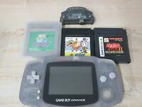 L228 Nintendo Gameboy Advance console Blue & 3 Game Japan GBA Pokemon n