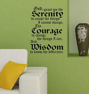 SERENITY PRAYER Inspirational Quote decal sticker vinyl wall art decoration SP3