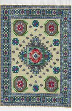 "1/12TH  DOLLS HOUSE TURKISH WOVEN CARPET 12½""(31cm) x 8""(20cm) OCTAGONAL DESIGN"