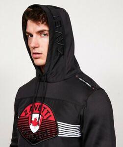 Zavetti Canada Bonnicini Overhead Hoodie Black Red Logo UK Size: M BNWT