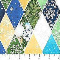 Clearance~O Christmas Tree~Diamonds/White Cotton Fabric by Northcott