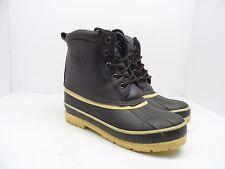 Totes Men's MP Duck Rain Cold Weather Boots Brown/Black/Cream Size 7M