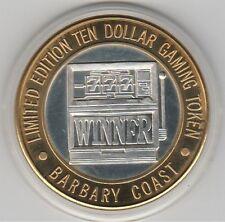 1994 Barbary Coast Slot Machine WINNER 777 Vintage .999 Fine Silver $10 Token
