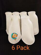 "Six (6) 4"" Filter Socks 4""x12"" Felt 100 Micron sock Aquarium Reef Wet Dry Sump"