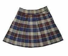 Age 9-10 Hey Joe Clothing -Girls Soft Pleated Check Skirt - 100% Made in Britain