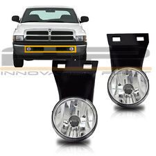 1994-2001 Dodge RAM 1500 2500 3500 Pick Up Fog Lights Clear W/O Sport Package