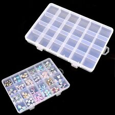 Organizer Empty Storage Box Nail Art Tips Case Pill Bottle Jewelry Container