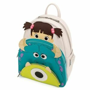 Disney Monsters Inc 20th Anniversary Boo, Mike & Sulley Mini Backpack by Loungef