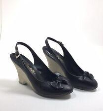 Vintage 80's Women'S Candie'S Shoes Black Leather 7M