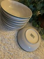 """China Pearl Casuals Apples 6 1/2"""" Soup Cereal Bowls Set Of 7 Hunter Green"""