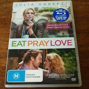 Eat Pray Love DVD R4 VERY GOOD - FREE POST