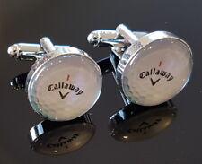 Mens Novelty Callaway Silver Golf Ball Cufflinks Sport Golfer Golfing Xmas Gift
